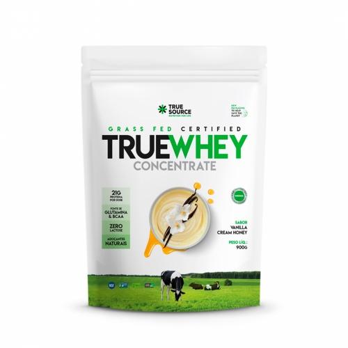 True Whey Concentrado Sabor Vanilla Cream Honey (900g) Refil - True Source