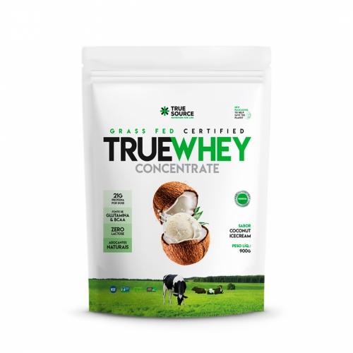 True Whey Concentrado Sabor Coconut Icecream (900g) Refil - True Source