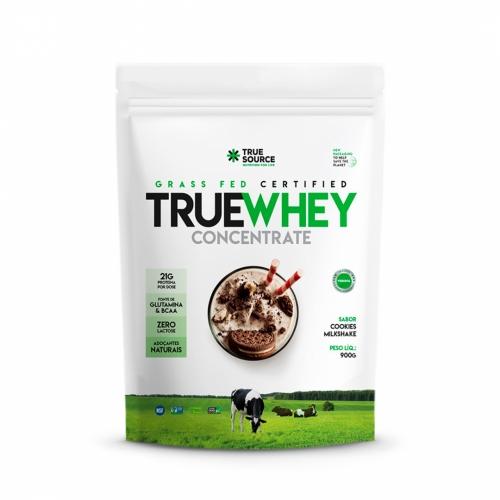 True Whey Concentrado Sabor Cookies MilkShake (900g) Refil - True Source
