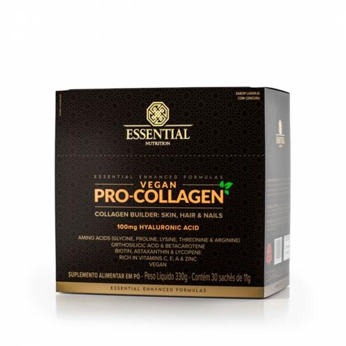 Vegan Pro-Collagen Box sabor Laranja com Cenoura (30 Sachês de 11g) - Essencial