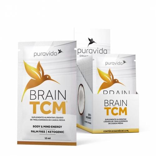 Brain TCM (1 cx com 20 Sachês de 15 mL) - Pura Vida