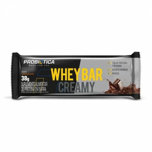 Whey Bar Creamy Sabor Chocolate (1 Unidade de 38g) - Probiótica
