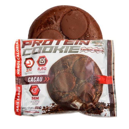 Protein Cookie Sabor Cacau (Caixa com 12 unidades de 55g) - Protein Tech