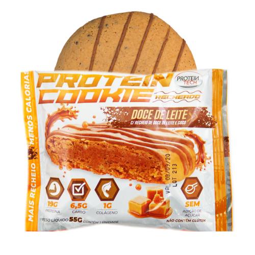 Protein Cookie Sabor Doce de Leite (Caixa com 12 unidades de 55g) - Protein Tech
