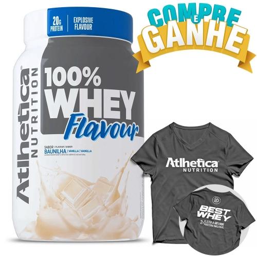Compre 100% Whey Flavour Sabor Baunilha (900g) e Ganhe Camiseta - Atlhetica Nutrition