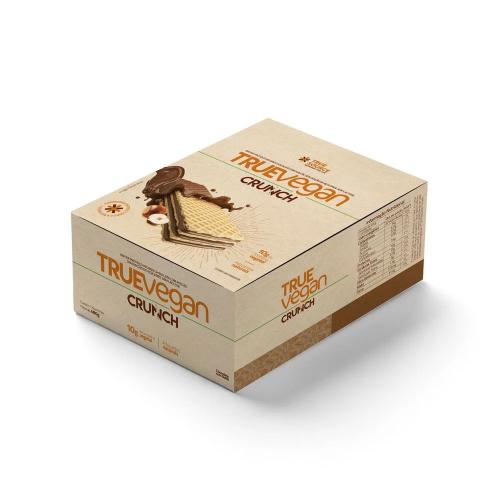 True Vegan Crunch Sabor Chocolate com Avelã (Caixa 12 Unidades de 40g) - True Source