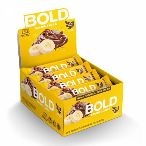 Bold Bar Sabor Banana e Avelã (Caixa 12 Unidades de 60g) - Bold Snacks