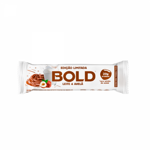 Bold Bar Sabor Leite e Avelã (1 Unidade de 60g) - Bold Snacks