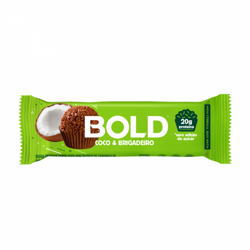 Bold Bar Sabor Coco e Brigadeiro (1 Unidade de 60g) - Bold Snacks