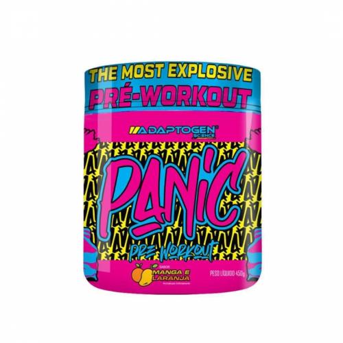 Panic Pré Workout Sabor Manga com Laranja (450g) - Adaptogen