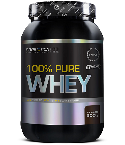100% Pure Whey Protein Probiótica Chocolate - 900g