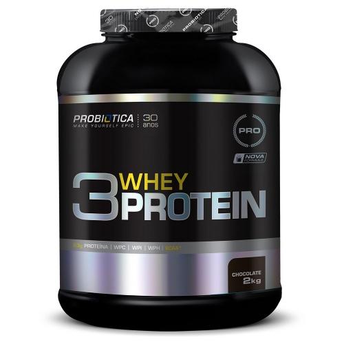 3 Whey Protein Sabor Morango (2Kg) - Probiótica