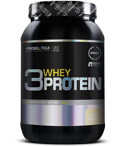 3 Whey Protein Sabor Baunilha (900g) - Probiótica