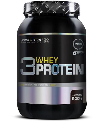 3 Whey Protein Sabor Chocolate (900g) - Probiótica