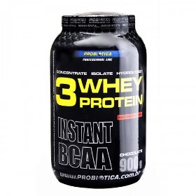 3 Whey Protein Chocolate Probiótica - 900 g