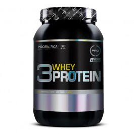 3 Whey Protein Morango Probiótica - 900 g
