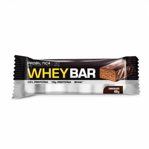 Whey Bar Sabor Chocolate (1 unidade de 40g) - Probiótica