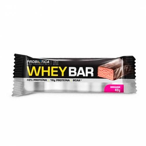Whey Bar Sabor Morango (1 unidade de 40g) - Probiótica