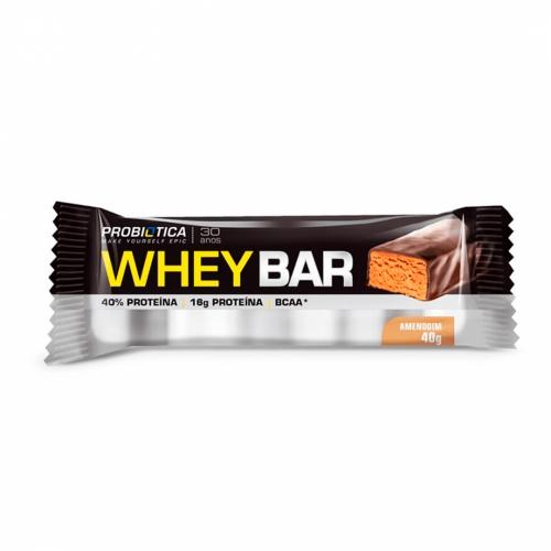 Whey Bar Sabor Amendoim (1 unidade de 40g) - Probiótica