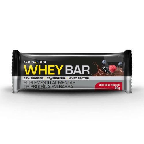Whey Bar Amendoim Probiótica - 40 g
