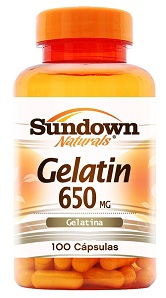 Gelatin 650mg Sundown - 100 Cápsulas