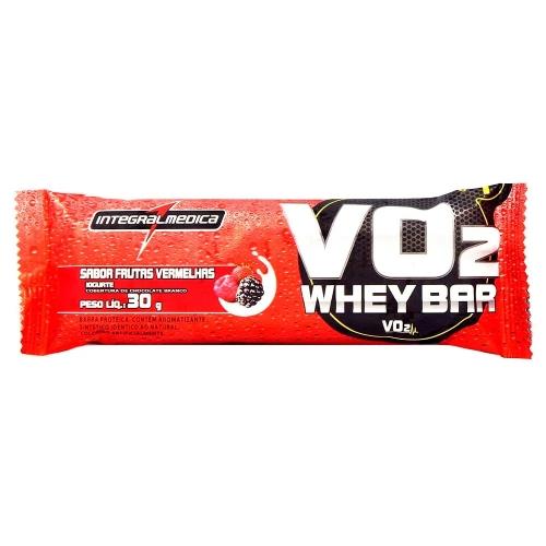 VO2 Whey Bar IntegralMedica Morango - 30 g