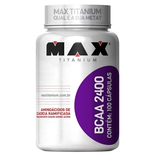 BCAA 2400 (100 cápsulas) - Max Titanium