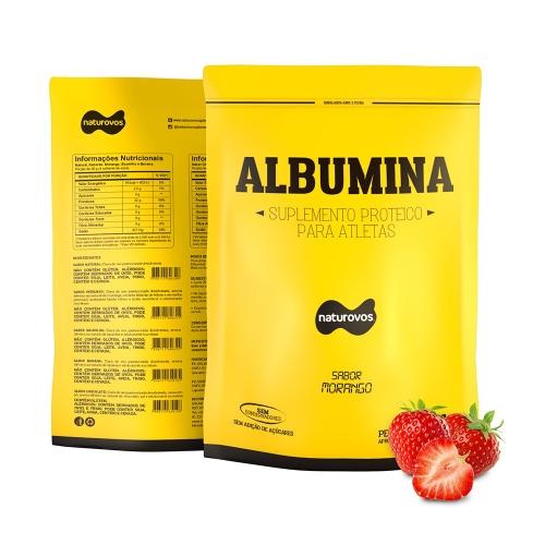 Albumina Naturovos - Morango - 500g
