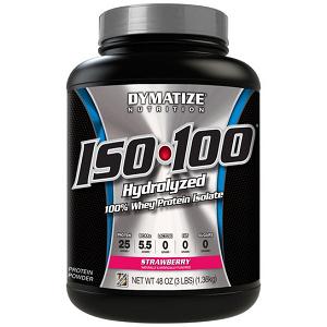 Whey Protein Hydrolized Iso 100 Dymatize - Morango - 1.342 g (Val. 03/2018)