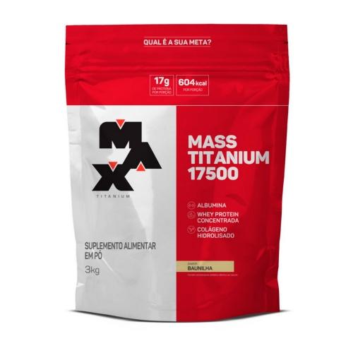 Mass Titanium 17500 Sabor Baunilha (3kg) - Max Titanium