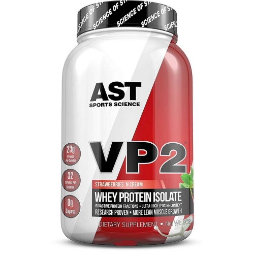 VP2 Whey Protein Isolate Chocolate - 937g - AST Sports Science