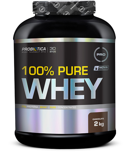 100% Pure Whey Protein Probiótica Chocolate - 2Kg