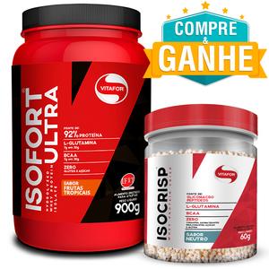 Isofort Ultra Frutas Tropicais 900g - Vitafor + Amostra Isocrisp 60g