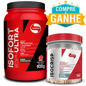 Isofort Ultra Chocolate 900g - Vitafor + Amostra Isocrisp 60g