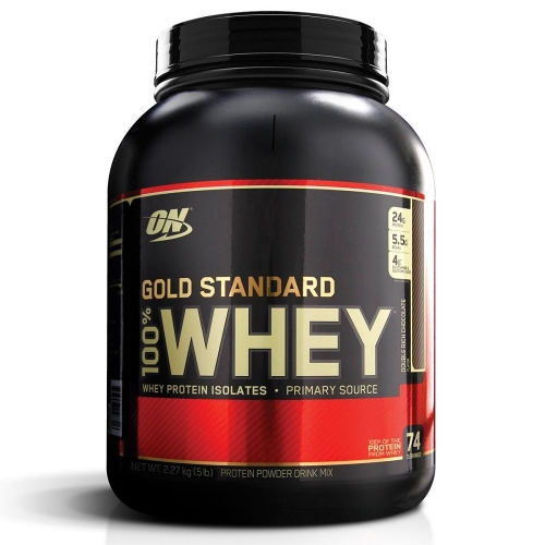 100% Whey Protein Gold Standard Optimum Nutrition - Chocolate c/ Coco - 2.270g