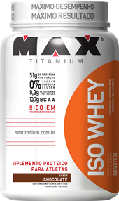 Iso Whey - Max Titanium - Morango - 900g