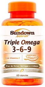 Triple Ômega 3,6,9 Sundown - 60 Cápsulas