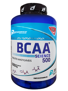 BCAA Science Mastigável - Performance Nutrition - Frutas Tropicais - 200 Tabletes