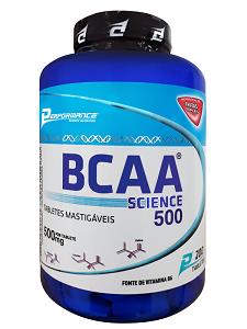 BCAA Science Mastigável - Performance Nutrition - Frutas Tropicais - 200 Tabletes