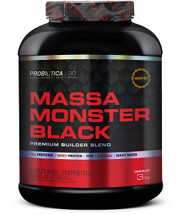 Massa Monster Black  Chocolate Probiótica - 3Kg