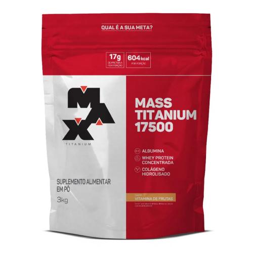 Mass Titanium 17500 Sabor Vitamina de Frutas (3kg) - Max Titanium