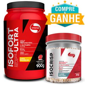 Isofort Ultra Baunilha 900g - Vitafor + Amostra Isocrisp 60g