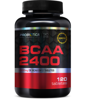 BCAA 2400mg Probiótica - 120 Tabletes