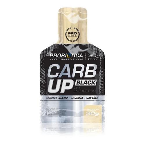 Carb Up Black Gel Energético Baunilha - Probiótica - 30g