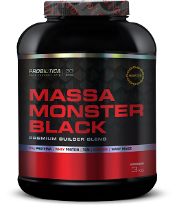 Massa Monster Black  Morango Probiótica - 3Kg