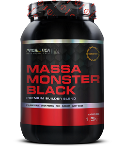 Massa Monster Black Sabor Chocolate  (1,5 Kg) - Probiótica