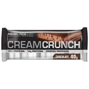 Cream Crunch Bar Chocolate - Pró Premium Line - Probiótica - 40 g