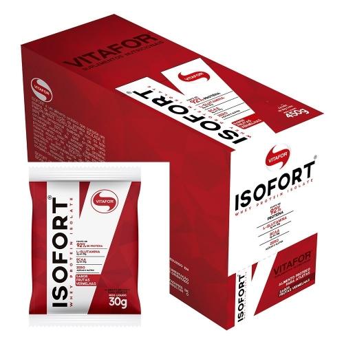 Isofort Caixa com 15 sachês Baunilha Vitafor - 30g cada