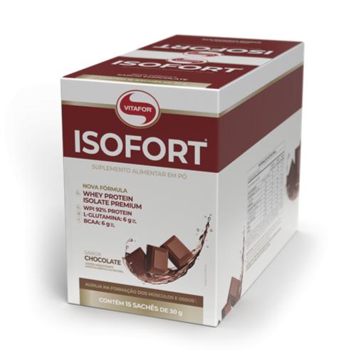 Isofort Caixa com 15 sachês Chocolate Vitafor - 30g cada