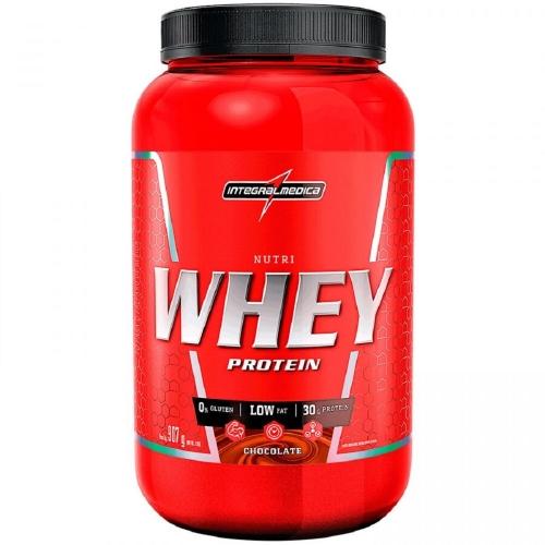Nutri Whey Protein - Integralmédica - Morango - 907g